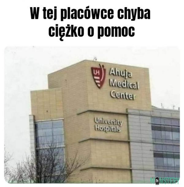 W tym szpitalu chyba nie pomagają