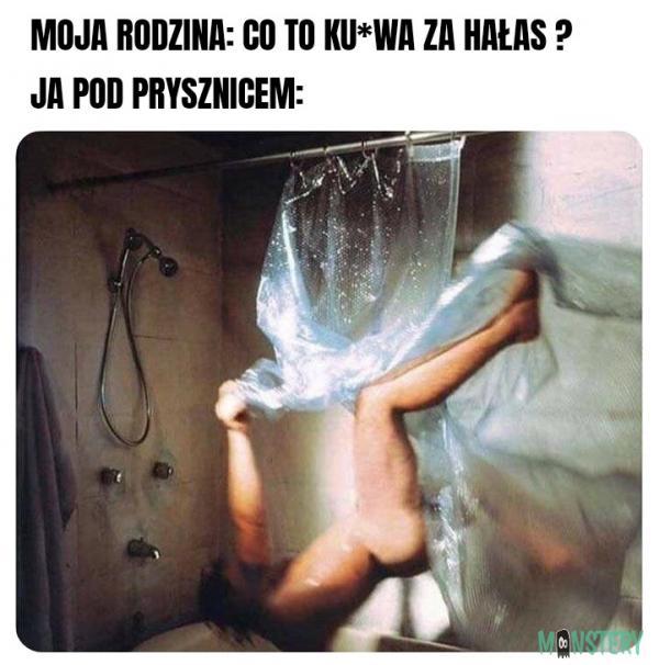 Typowy prysznic na bani