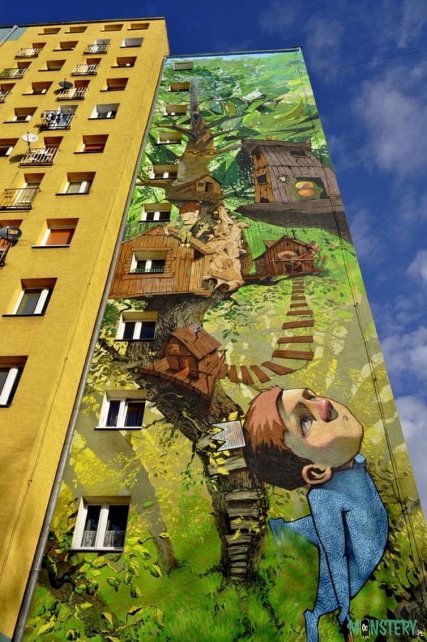Mural Piotruś Pan w Bydgoszczy