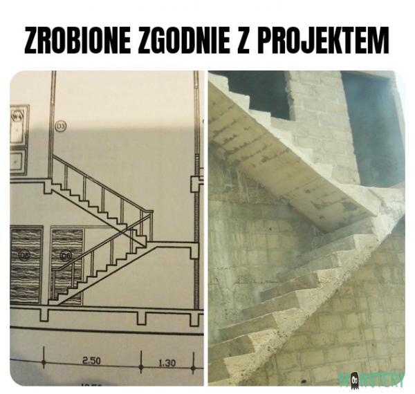 Zgodnie z projektem