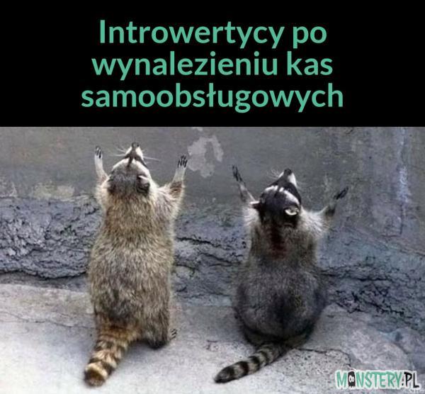 Introwertycy po wynalezieniu kas samoobsługowych