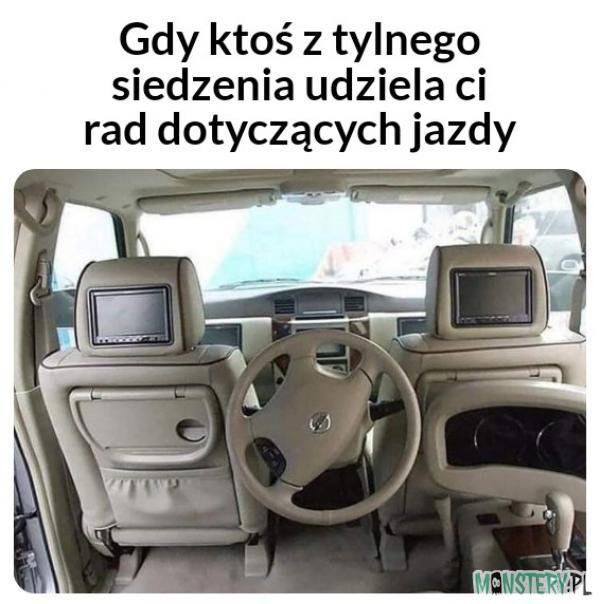Rady podczas jazdy