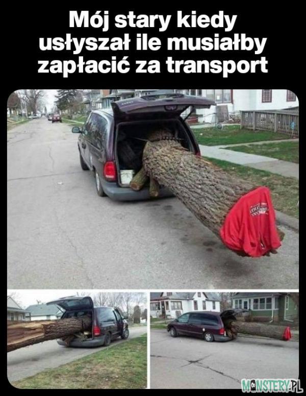 Transport drewna