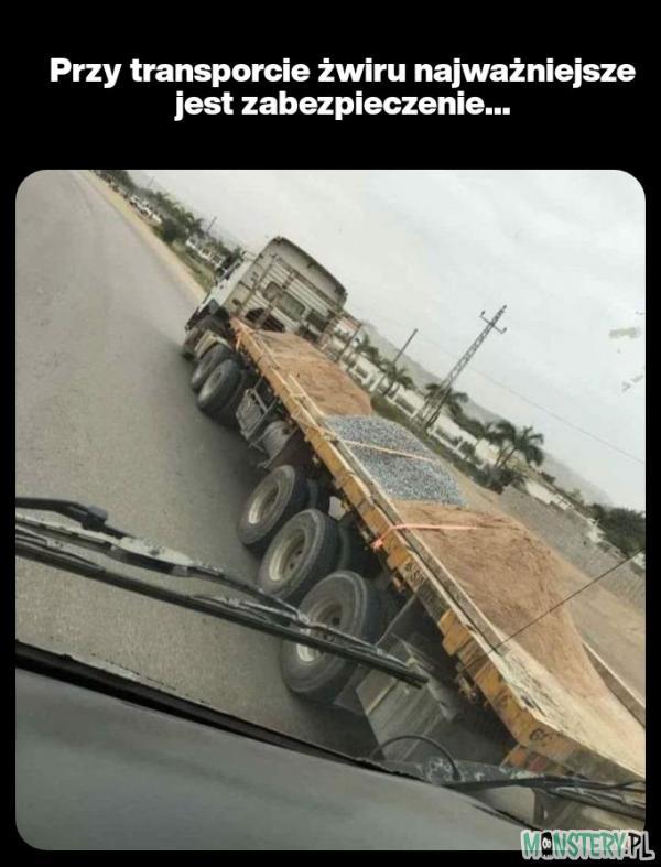 Transport żwiru