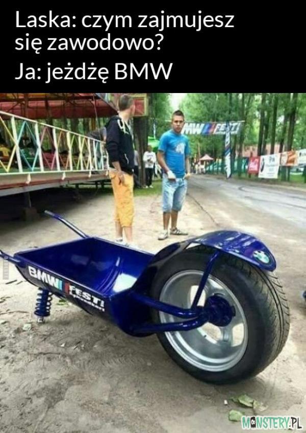 Zawodowy kierowca BMW